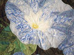 "Diane Herbort - Trash bag quilting technique - ""Morning Glories"""