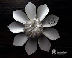 Medium Paper Flower with Custom Initials or Logo 2 by balushka