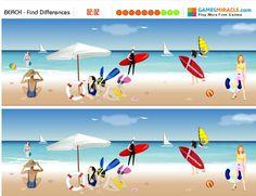 Encuentra las diferencias en estas imágenes de playa…