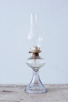 Antique Hurricane PETROLE lampe avec cheminée
