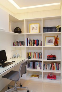 Trendy Home Office Pequeno Ideas Cozy Home Office, Home Office Design, Home Office Decor, Home Decor, Office Ideas, Small Office Organization, Organization Ideas, Small Home Libraries, Cool Office Space