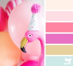 Color party design seeds flamingo party, flamingo color, colour pallette, c Design Seeds, Colour Pallette, Colour Schemes, Color Combos, Color Tones, Flamingo Color, Flamingo Party, Colorful Party, Color Swatches