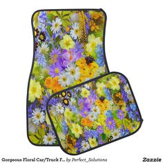 Shop Gorgeous Floral Car/Truck Floor Mats created by Perfect_Solutions.