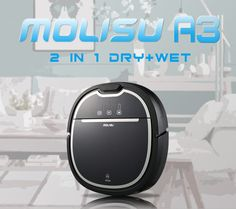 Molisu A3 Robot Vacuum cleaner cleaning appliances Power Suction Automatic Intelligence Sweeper Cliff Sensor Efficient HEPA
