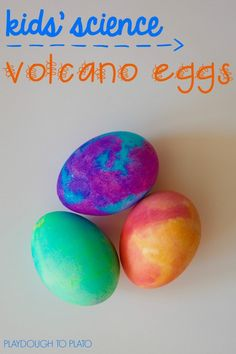 Awesome kids' science project! Make volcano eggs that fizz and erupt. Great DIY project for kids!