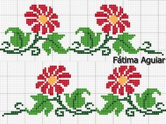 This Pin was discovered by Kan Cross Stitch Pillow, Cross Stitch Rose, Cross Stitch Borders, Cross Stitch Flowers, Cross Stitch Designs, Cross Stitching, Cross Stitch Embroidery, Cross Stitch Patterns, Embroidery Patterns Free
