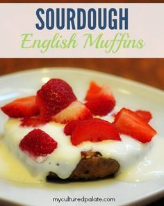 Looking for a healthy breakfast alternative to cereal or eggs? Try a sourdough english muffin! Top it with some yogurt and strawberries and you have an award-winning breakfast.