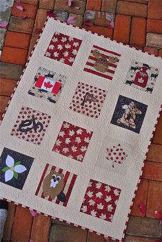 Canada Quilt for the Great Canadian Baby Quilting Projects, Sewing Projects, Quilting Tips, Canadian Quilts, Quilts Canada, Baby Quilts, Children's Quilts, Tie Quilt, Patriotic Quilts