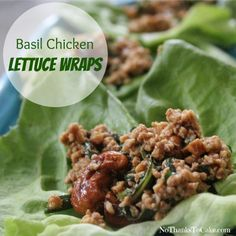 Basil Chicken Lettuc