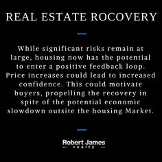 Invest in #Realestate While significant risks remain at large, housing now has the potential to enter a positive feedback loop.
