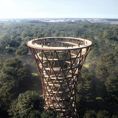 EFFEKT's Spiraling Observation Tower - Gisselfeld Kloster, Haslev, Denmark.