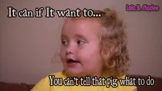 Preach, Honey Boo Boo