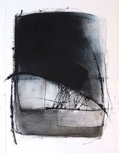 art journal - expression through abstraction — Kitty Sabatier Black And White Abstract, White Art, Galerie Saatchi, Abstract Landscape, Abstract Art, Landscape Design, Abstract Sketches, Picasso Paintings, Modern Art Paintings
