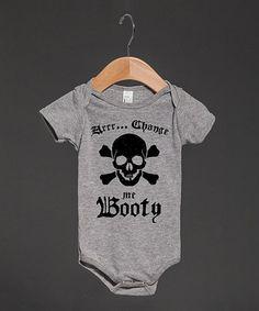 Look at this #zulilyfind! Heather Gray 'Change Me Booty' Bodysuit - Infant by Skreened #zulilyfinds