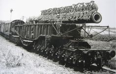 Railway Gun at Ashbury, WWII.
