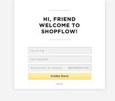 Account registration design patterns
