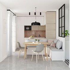 """Interior design inspiration (@i.n.t.e.r.i.o.r.e.s) no Instagram: """"#interiores #designinteriores #kitchendesign #kitchen #cozinhaamericana #kitchendecor…"""""""