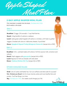 So you're an apple shape body and need a meal plan to help with weight loss . - Fat Loss for women - Kalorienarme Rezepte Apple Body Shape Diet, Apple Body Type, Apple Body Shapes, Weight Loss Help, Diet Plans To Lose Weight, Weight Loss Plans, Losing Weight, Reduce Weight, Paleo Diet Plan