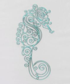 Metal Sea Horse Wall Art | something special every day