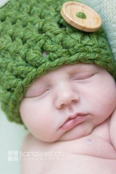 crochet baby hat-no pattern