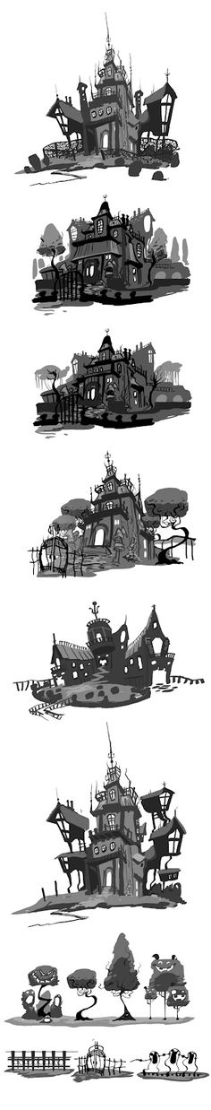 2D Bean artblog- Concept art, visual Development, Doodles, and Illustrations of Brett Bean: Haunted Mansion Mess abouts