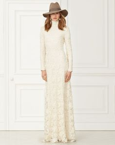 Nicolette Lace Gown - Collection Apparel Evening Dresses - RalphLauren.com