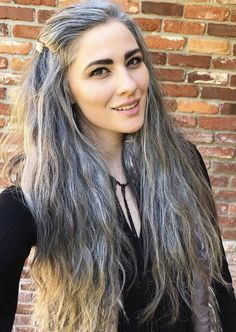 Grey White Hair, Long Gray Hair, Silver Grey Hair, Grey Hair Young, Grey Hair Model, Grey Hair Transformation, Grey Hair Styles For Women, Grey Hair Inspiration, Gray Hair Growing Out