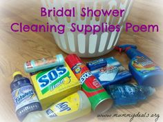 Need a unique gift for a bridal shower? Use this bridal shower poem complete with full directions! From @Clair @ Mummy Deals #gifts #bridalshower #candybarpoem