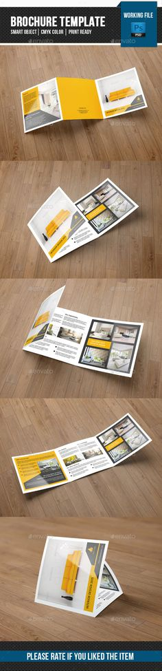 Square Trifold Brochure for Interior Design-V82 Brochure - interior design brochure template