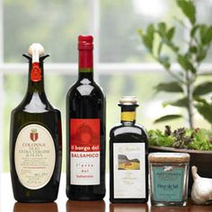 Cooking experts say... vinaigrette is only as good as its main ingredients.    Two premium fresh-pressed Italian extra virgin olive oils - each with a distinct fresh-from-the-press flavor - work beautifully with this rich-bodied, hearty Italian balsamic vinegar from Reggio Emilia.    Seasoned with accompanying Fleur de Sel sea salt from France... yes... we're talking about salads worthy of a 5 star restaurant! $165
