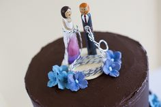 cutest little rock climbing cake toppers by hooliamg, via Flickr. These maybe easy to make.
