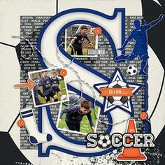 Capture your soccer star in style...and get more inspiration in the Scrapbook.com Gallery today.