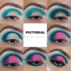 Teal Eyeshadow, Eyeshadow Looks, Abh Modern Renaissance, Work Looks, Eye Make Up, Makeup Tutorials, Makeup Ideas, Makeup Looks, Face