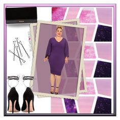 """PlusSizeF♥rLess"" by plussizeforless ❤ liked on Polyvore featuring Balmain, Valentino, purple and plussizeforless"