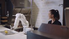 A restaurant in Pasadena, Calif. installed a robot named Flippy, an autonomous robotic kitchen arm created by Miso Robotics, to cook its meat. Robot Images, Order Food, Hamburger, Technology, Robotics, Science Fiction, March, Retail, Restaurant