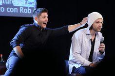 Jensen Ackles and Jared Padalecki at Supernatural JIB Con 5-  2014 Jibcon 2014 #JIBcon14 #JIBcon2014