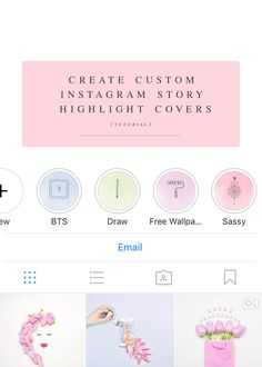 Freebie 10 girly instagram story templates big cat creative learn how to create custom instagram story highlight covers they are a great way to ccuart Images