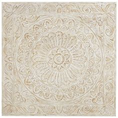 You can have the whole world on your wall. After all, our Setia wooden wall panel is inspired by the mandala, an ancient motif representing wholeness and the universe. From floral designs to <i>fleur-de-lis</i> embellishments, Indonesian artisans carve and paint each piece by hand. Fittingly, it delivers a global vibe.
