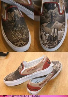 Customized Harry Potter shoes. I will own some one day