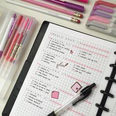 pink single spread bullet journal spread inspiration