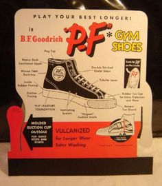 PF Flyers!!! MY PF Fliers were white (girl shoes).  I remember them well.