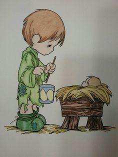 Little drummer boy and Jesus
