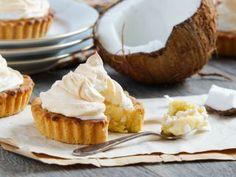 Mini tartas de crema de coco
