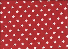 Jersey rot mit weissen Sternen von Babischka auf DaWanda.com