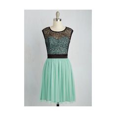 Mid-length Sleeveless Fit & Flare Starlet's Web Dress (445 VEF) ❤ liked on Polyvore featuring dresses, apparel, mint, green dress, green sleeveless dress, evening dresses, holiday dresses and green evening dress