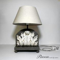 Old inlay lamp