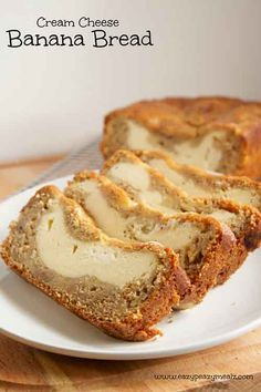 sponsored links Cream Cheese Banana Bread The bread is soft, moist and the cream cheese layer is like having a layer of cheesecake baked into banana bread. This recipe calls for: egg, brown sugar, vegetable oil, honey Greek yogurt (plain, or sour cream works too), vanilla extract, bananas mashed, bread flour, baking powder, baking soda, salt. For the filling: egg, cream cheese, granulated sugar and flour. I firmly believe that banana bread is something you should be able to make anytime and…