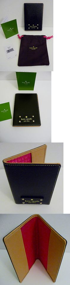 ID and Document Holders 169279: Kate Spade Newyork Nwt Unisex Wellesley Black Leather Passport And Ticket Holder -> BUY IT NOW ONLY: $56 on eBay!