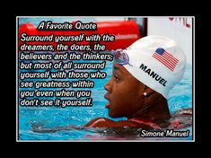 Inspirational Olympic Champion Swim Quote Wall Art Gift, Poster, Photo Poster, Swimming Wall Decor, Motivation Simone Manuel by ArleyArt on Etsy Swimming Posters, Swimming Memes, Swimming Motivation, Motivation Wall, I Love Swimming, Girls Swimming, Swimming Sport, Michael Phelps, Simone Manuel