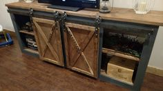 DIY Sliding Door Console - The Bombshell Garage